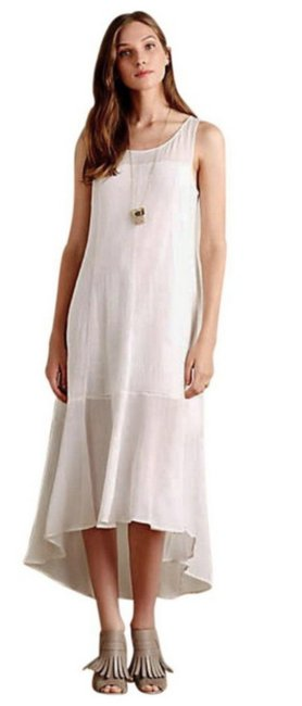 White Maxi Dress by Anthropologie Breezy Maxi High Low Maxi Maxi Summer Maxi Cool Comfy Maxi Image 3
