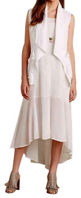White Maxi Dress by Anthropologie Breezy Maxi High Low Maxi Maxi Summer Maxi Cool Comfy Maxi Image 4