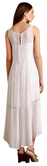 White Maxi Dress by Anthropologie Breezy Maxi High Low Maxi Maxi Summer Maxi Cool Comfy Maxi Image 5