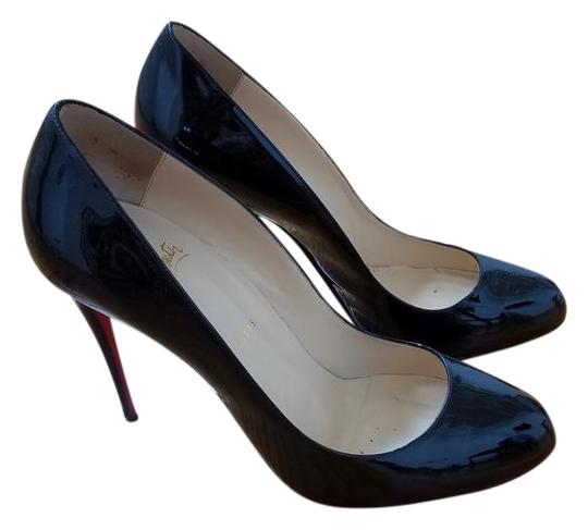 hot sales 165a8 a809e Christian Louboutin Black Patent Leather Simple 85mm Red Sole Pumps Size US  9 Regular (M, B) 51% off retail