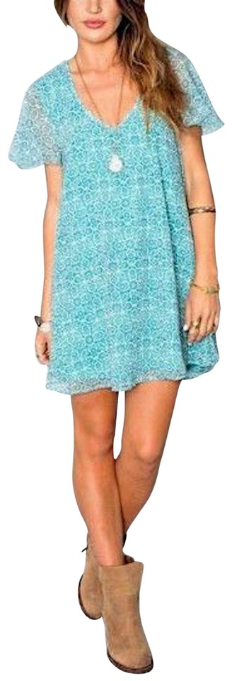 Show Me Your Mumu Blue/Green/Teal/White Wedding Guest Flutter Swingy ...