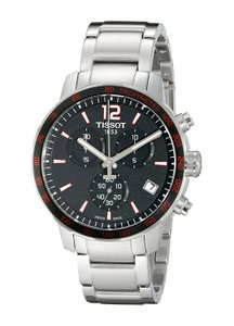 40cccdf0b84 Tissot Quickster Chronograph Black Dial Stainless Steel Men's Watch ...