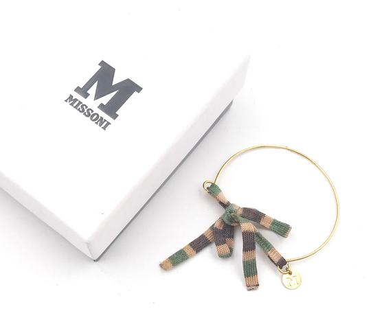 M Missoni M MIssoni Multi Color Strap Gold Bracelet