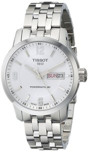 Tissot PRC 200 Powermatic 80 Automatic White Dial Stainless Steel Men's Watch