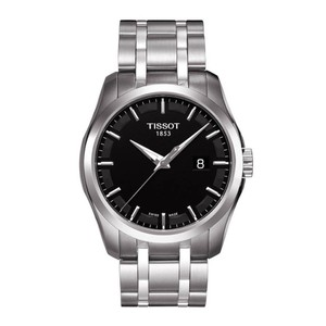 Tissot Couturier Black Dial Stainless Steel Men's Watch T0354101105100