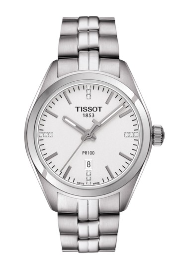Preload https://img-static.tradesy.com/item/21912472/tissot-pr-100-t-classic-silver-dial-diamond-stainless-steel-ladies-watch-0-0-540-540.jpg