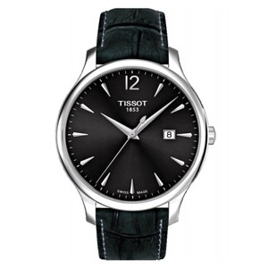 Tissot Tradition Grey Dial Dark Grey Leather Ladies Watch T0636101608700