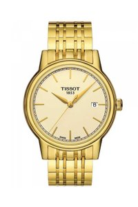 Tissot Carson Champagne Dial Yellow Gold-plated Men's Watch