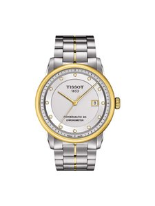 Tissot Luxury Automatic Diamond Silver Dial Two-Tone Stainless Steel Men's Wa