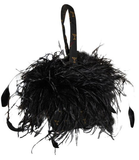 Preload https://item5.tradesy.com/images/martini-glass-bag-black-feathers-and-textile-baguette-2191264-0-0.jpg?width=440&height=440
