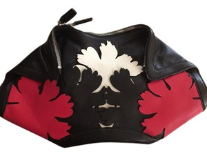 e533ff6a5 Added to Shopping Bag. Alexander McQueen Black/Red/White Clutch. Alexander  McQueen De Manta Lotus Flower ...