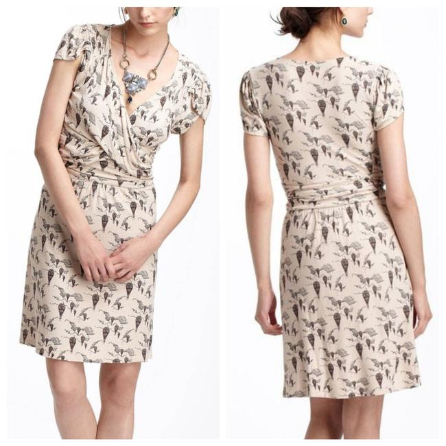 Anthropologie Beige Up and Away Mini Short Casual Dress Size 4 (S) Anthropologie Beige Up and Away Mini Short Casual Dress Size 4 (S) Image 1
