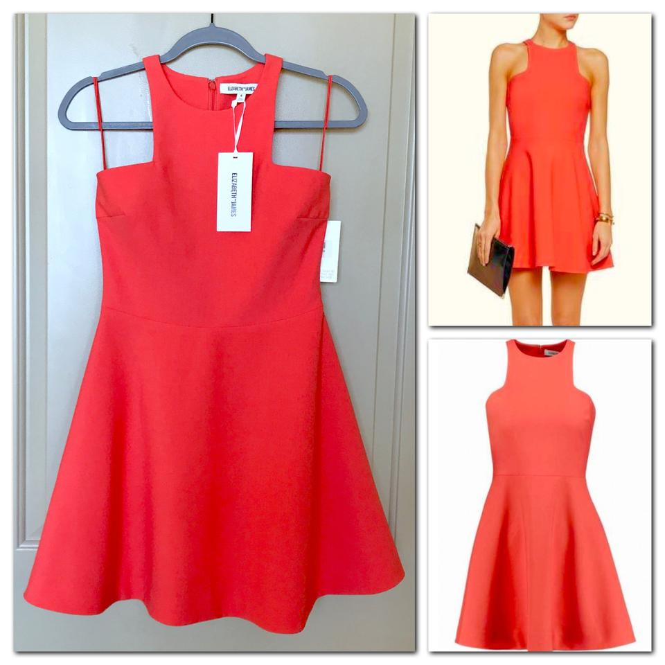 Elizabeth and james pink clarissa fit flare short cocktail dress elizabeth and james mini cut out halter a line cutaway dress ombrellifo Choice Image