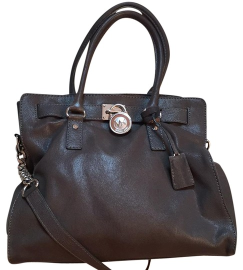 Preload https://img-static.tradesy.com/item/21912905/michael-kors-hamilton-gray-leather-tote-0-1-540-540.jpg