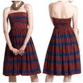 Anthropologie Blue Red Oxidized Medallions Mid-length Short Casual Dress Size 6 (S) Anthropologie Blue Red Oxidized Medallions Mid-length Short Casual Dress Size 6 (S) Image 4