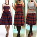 Anthropologie Blue Red Oxidized Medallions Mid-length Short Casual Dress Size 6 (S) Anthropologie Blue Red Oxidized Medallions Mid-length Short Casual Dress Size 6 (S) Image 5