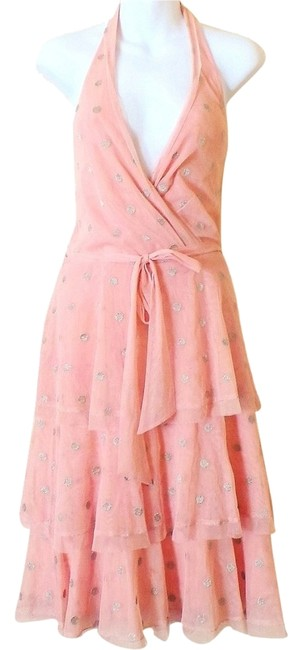 Preload https://item2.tradesy.com/images/bcbgmaxazria-pink-bcbg-halter-embroidered-polka-dot-knee-length-night-out-dress-size-12-l-2191306-0-0.jpg?width=400&height=650