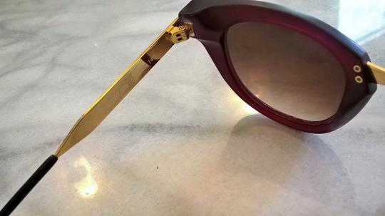 THIERRY LASRY Thierry Lasry Snobby 509 Matte Burgundy & Gold