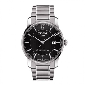Tissot T-Classic Automatic Black Dial Two-tone Men's Watch