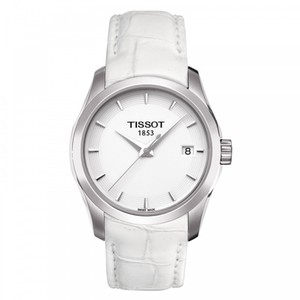 Tissot Couturier White Dial Ladies Watch