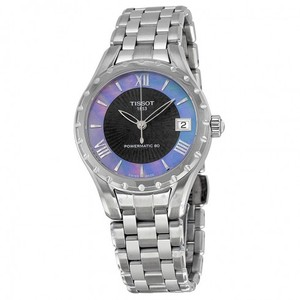 Tissot Couturier Automatic Black Dial Stainless Steel Ladies Watch
