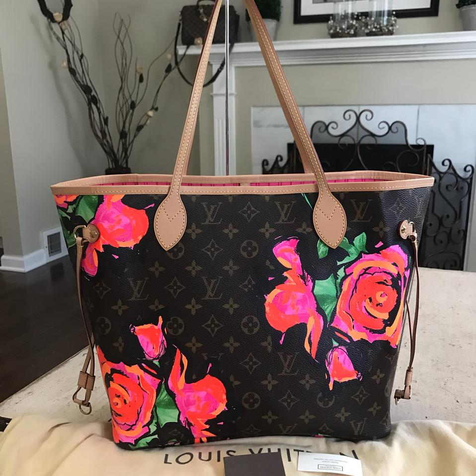 Louis Vuitton Neverfull Stephen Sprouse Rose Totes Shoulder Bag