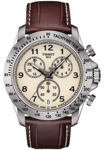 Tissot V8 Ivory Dial Men's Chronograph Watch