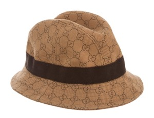 Gucci Camel, brown Gucci GG web print canvas bucket hat S