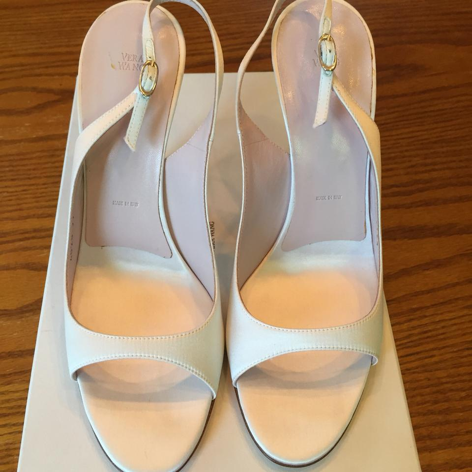 White By Vera Wang White Satin Wedding Shoes