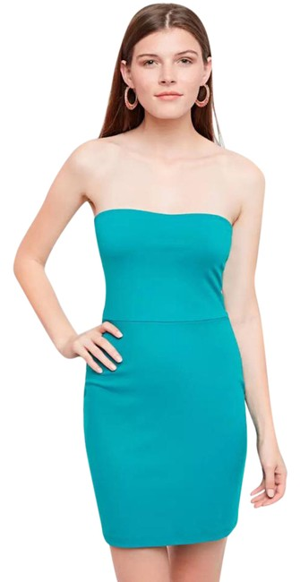 Preload https://img-static.tradesy.com/item/21913416/susana-monaco-teal-blue-strapless-ruched-short-night-out-dress-size-8-m-0-1-650-650.jpg