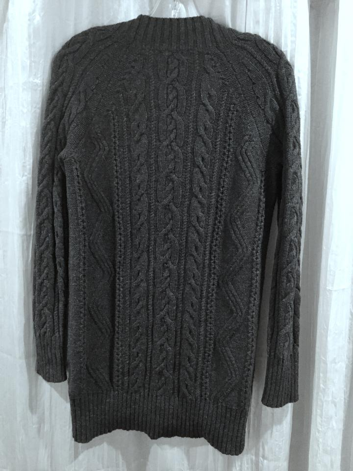 Gap Plunging V neck Lengthy Charcoal Sweater