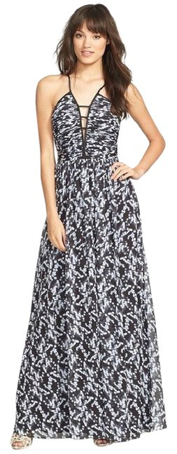 Item - Multicolor New Deep V-neck Print Chiffon Long Formal Dress Size 4 (S)