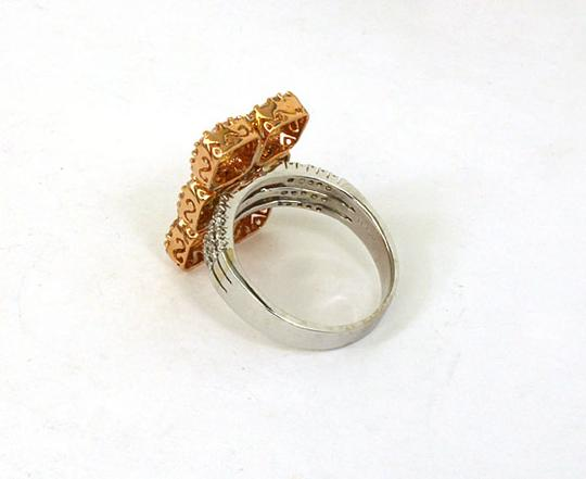 Other 3.02ctw Fancy Yellow & White Diamonds 18k Two Tone Gold Long Ring