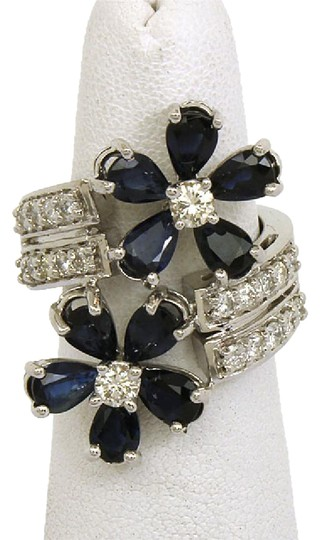 Preload https://img-static.tradesy.com/item/21913740/white-gold-blue-sapphire-4ctw-diamond-and-floral-bypass-14k-ring-0-1-540-540.jpg