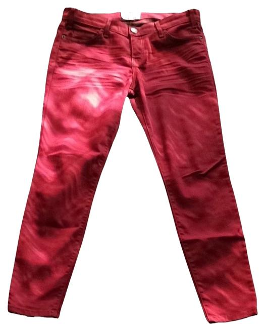 Item - Red Denim Distressed Skinny Jeans Size 28 (4, S)