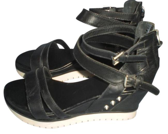 Ash Black Ankle Strap Zip Wedge Sandals Size EU 39 (Approx. US 9) Regular (M, B) Ash Black Ankle Strap Zip Wedge Sandals Size EU 39 (Approx. US 9) Regular (M, B) Image 1