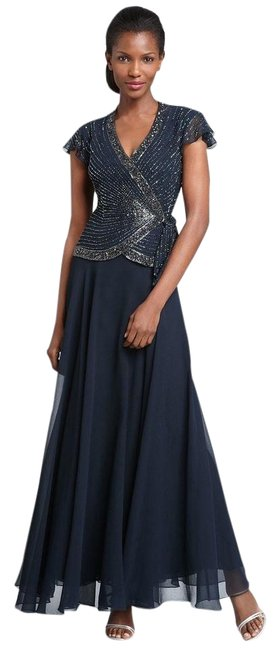 Preload https://img-static.tradesy.com/item/21913807/jkara-blue-new-beaded-chiffon-long-formal-dress-size-10-m-0-1-650-650.jpg