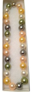Large Multi-color Freshwater Pearl Necklace