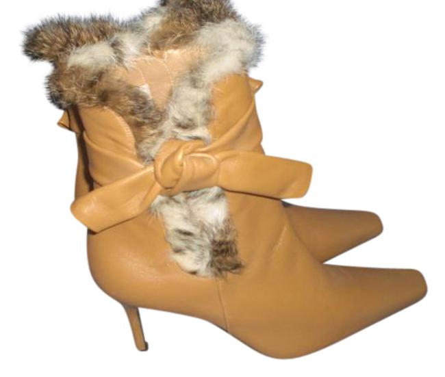 Stuart Weitzman Brown 42514 Lamb Leather with Fur Trim and Bow M Boots/Booties Size US 9 Regular (M, B) Stuart Weitzman Brown 42514 Lamb Leather with Fur Trim and Bow M Boots/Booties Size US 9 Regular (M, B) Image 1