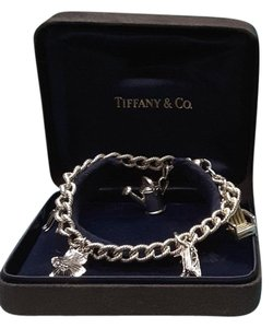 Tiffany & Co. Tiffany & Co Sterling Silver 5 Charm Bracelet Garden Theme