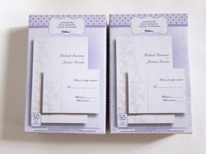 White Floral Wedding Invitation Printable Kit Reply Cards Envelopes 100 Sets