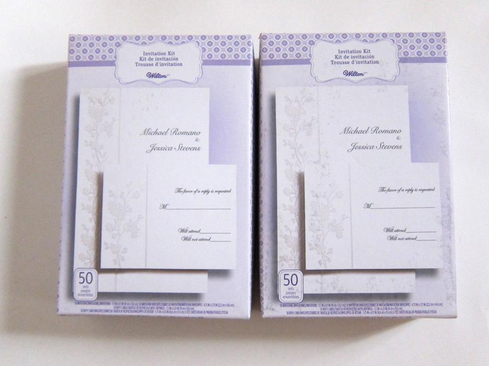 White Floral Wedding Invitation Printable Kit Reply Cards