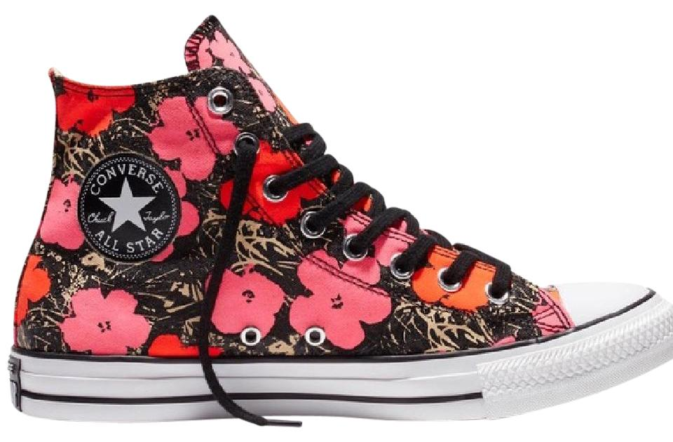 c54933bd4b0668 Converse Red   Fuchsia   White Chuck Taylor All Star Andy Warhol Poppy Hi  Top Sneakers