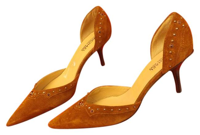 Michael Kors Brown Suede Studded Stones Slip On Heel D'orsay Pumps Size US 8.5 Regular (M, B) Michael Kors Brown Suede Studded Stones Slip On Heel D'orsay Pumps Size US 8.5 Regular (M, B) Image 1