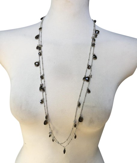 Preload https://img-static.tradesy.com/item/21914283/abs-by-allen-schwartz-silver-black-stones-chain-necklace-0-1-540-540.jpg