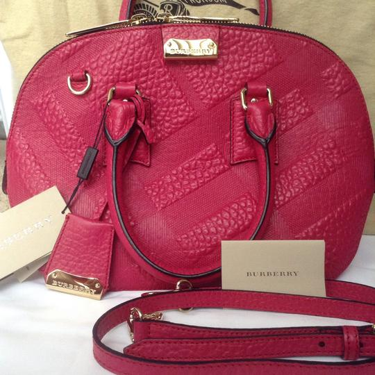 Burberry Satchel in Vibrant Fuchsia