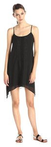 BCBGeneration short dress black Embroidered Open Spaghetti Strap Flowy Scoop on Tradesy