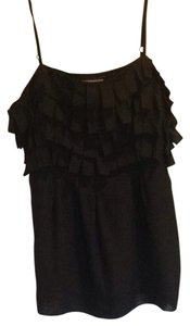 Kenar Sleeveless Pleated Top Black