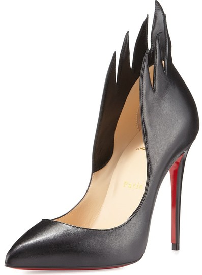 Christian Louboutin Victorina Flame Stiletto Leather black Pumps Image 1