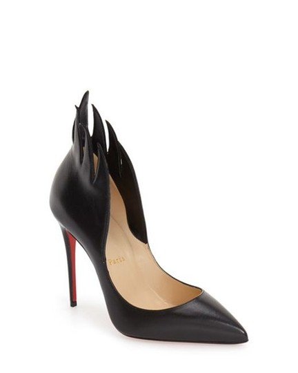 Christian Louboutin Victorina Flame Stiletto Leather black Pumps Image 2